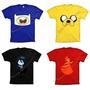 Camiseta Finn Jake Marceline Princesa Fogo Hora De Aventura