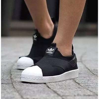 slip on adidas preto