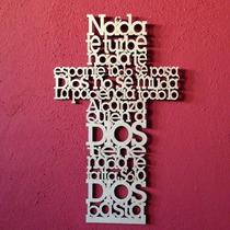 Cruz Oración De 20 Cm.
