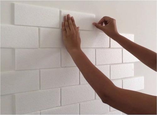 480 placas de isopor para parede tijolinho 8m frete - Placas para decorar paredes ...
