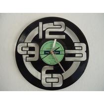 Reloj Vinilo Diseño Original Decorativo Funcional