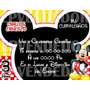 Tarjetas De Invitacion Mickey Y Minnie Mouse - Invitaciones