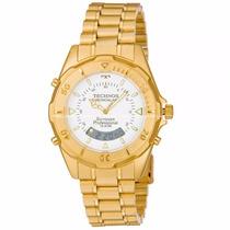 Relógio Masculino Technos Anadig T20557/49p Skydiver Dourado