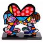 Romero Britto Casal Coração Miniatura Escultura Decorativa
