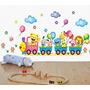 Adesivo Decorativo Parede Infantil Trem Festa Animais Balões