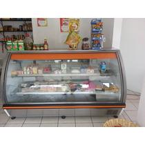 Vitrina Refrigerador Para Crema Y Quesos Cristal Curvo