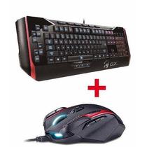 Mouse Gamer Gila Laser Genius Gx + Teclado Manticore Gta Cod