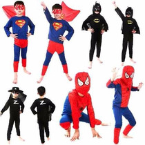 Disfraz Spiderman Superman Batman Goku Ben 10 Niños S- M- L