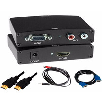 Adaptador Conversor Vga Para Hdmi Ps3 Xbox360 Tv + Cabos