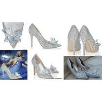 Zapatos De Cristal Fiesta Noche Cenicienta 35