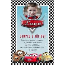 Kit Imprimible Cars Disney Invitación Candybar Cumpleaños