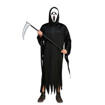 Fantasia Pânico Halloween Adulto Capa + Máscara
