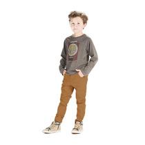 Calça Skinny Infantil De Sarja Com Lycra - Veste Excelente