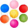 Lámpara Papel Color 35cm Globos Arroz Decorativa Farol Chino
