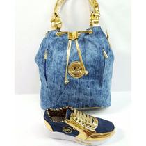 Calzado Bota Zapato Mk Dama Con Cartera Bolso Colombianos