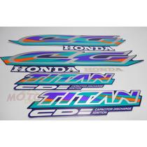 Adesivo Faixa Moto Honda Cg Titan 125 Azul 97