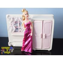 Quarto Para Bonecas Armário Moveis Serve Para Casa Da Barbie