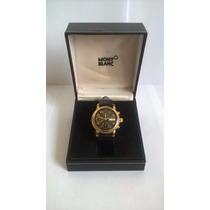 Relógio Mont Blanc Cronógrafo Meisterstuck Gilt Ouro Day Dat