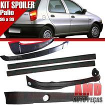 Kit Spoiler Palio 96 Á 99 4 Portas Dianteiro + Lateral Sem T