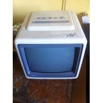 Televisão Antiga Tv Semp 10 Poleg. Branca Raridade Tubo Av
