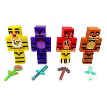 Minecraft Foxy Chica Bonnie Freddy Five Nights At Freddy