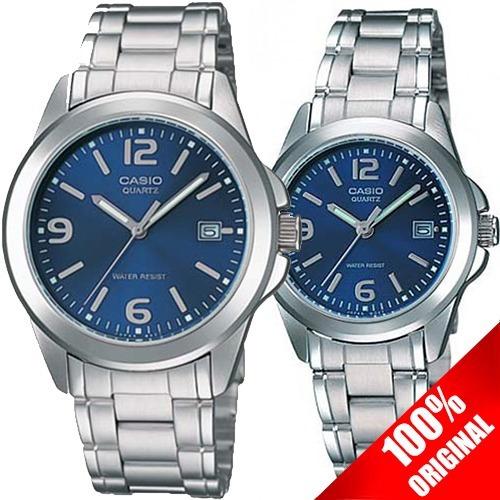 531c972e017a Reloj Casio Mtp 1215 + Ltp 1215 Acero Pareja Ideal Regalo -   1