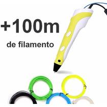 Pluma 3d Impresión 3d Con 100 Metros De Filamento Gratis