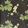 710407 -  Floral (Verde/ Marrom/ Creme/ Com Brilho