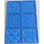 Molde Silicone Gesso Placas Parede 42x42cm - 6 Peças+brinde