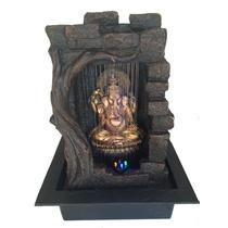 Fonte De Agua Ganesha Gruta Com Iluminação