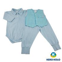 Pack 3 Conjunto Bebê Body/culote Estilo Conforto Kero Kollo
