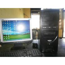 Computadora Completa Intel Pentium 4. 2.40 Ghz Monitor Plano