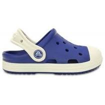 Crocs Niño Bump It Clog Kids Azul Y Blanco Originales