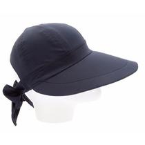 Boné Chapéu Viseira Aba Grande Com Laço Tecido Várias Cores