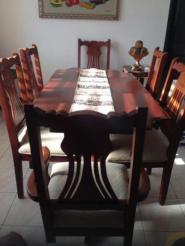 Juego de comedor caoba 6 sillas 45 en mercado libre for Juego comedor pequea o