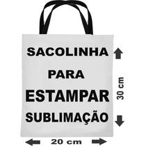 150 Sacolinhas Bolsinhas Ecobag P Sublimação 20x30 Fábrica