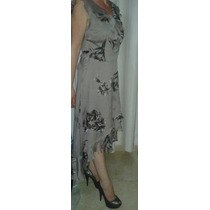 Vestido De Festa, Casamento, Formatura Seda Pura Super Luxo
