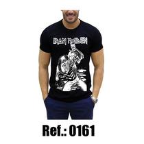 Camisa Iron Maiden Preta 100% Algodao Blusa Rock In Roll