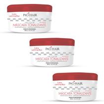 Combo 3x Máscara Tonalizante Red Color 300gr Pró Hair Cosmet