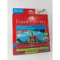 Caixa De Lápis De Cor Faber Castell Com 24 Cores C/brinde.