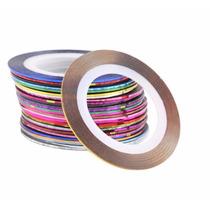 Kit 10 Fitas Metalizadas / Fio De Ouro - Adesiva - Películas