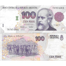 Billete 100 Pesos Convertibles Primer Diseño B Muy Bueno