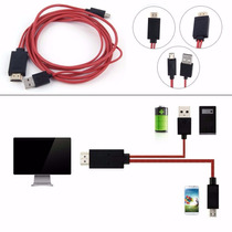 Cabo Mhl Hdmi V8 Samsung Galaxy S3 S4 S5 Not Hd Tv Micro Usb