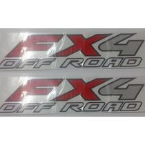 Dois Adesivos Fx4 Off Road F-250 F250 Importada + Brinde