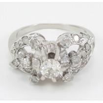 Esfinge Jóias- Anel Platina Diamantes 0,75 Cts Total Aro12,5