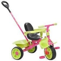 Triciclo Velotrol Smart Plus Passeio Bandeirante Rosa Verde