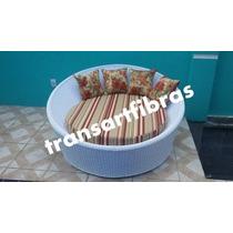 Chaise Concha De 1.60 De Fibra Sintetica Sofa Poltron Puff