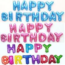 Globo Feliz Cumpleaños Multicolor, 13 Letras, 40cm