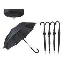 Paraguas Largo Negro Liso Anti Viento Automatico !!!