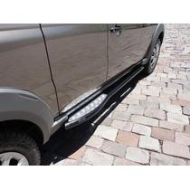 Estribo Com Plataforma Aluminio Preto Fiat Strada